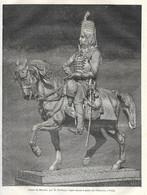 GRAVURE De 1884.. Statue De MARCEAU, Par M. CLESINGER, érigée Devant Le Palais De L'Industrie, à PARIS - Prints & Engravings