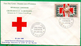 GABON - FDC N° 271/3000 - 1er Timbre Croix-Rouge Gabonaise  - 1965 - Gabon