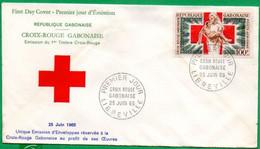 GABON - FDC N° 273/3000 - 1er Timbre Croix-Rouge Gabonaise  - 1965 - Gabon