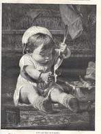 GRAVURE De 1884.. Il Fait Main Basse Sur La Montre - Prints & Engravings