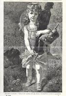 GRAVURE De 1884.. Bonhomme Et Petite Fille... Tableau De M. LOBRICHON... JOUET - Prints & Engravings
