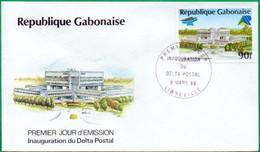 GABON - FDC - Inauguration Du Delta Postal - 1988 - Gabon