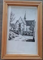 De Kerk Van Vlassenbroek Door Karel Halterman - Drawings