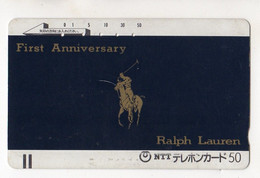 JAPON TELECARTE ANCIENNE MODE RALPH LAUREN - Moda