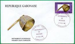 GABON - FDC - Instruments De Musique - 1988 - Gabon