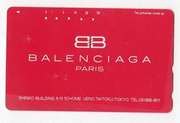 TELECARTE JAPON MODE BALENCIAGA - Moda