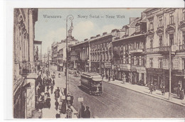 Cpa Old Pc Pologne Varsovie Warszawa Neue Welt - Polonia