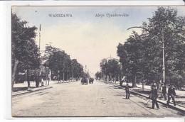 Cpa Old Pc Pologne Varsovie Warszawa Aleje Ujazdowskie - Pologne