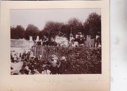 Photo Particulier 1905 Finistère Plougonvelin Sortie De L'église Baptêmes D'Anne Marie Réf 5485 - Places