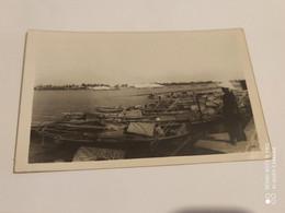 Ancienne Carte Postale Photographie Chine Shanghai Port Bateaux Pecheur - Chine