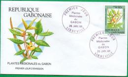 GABON - FDC - Plantes Médicinales - 1988 - Gabon