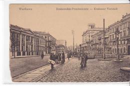 Cpa Old Pc Pologne Varsovie Warszawa Krakauer - Polonia