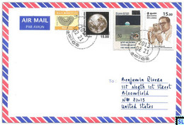 Sri Lanka Stamps, Moon, Space, Solar, Personalized Cover - Sri Lanka (Ceylon) (1948-...)