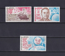 BENIN 1977, Mi# 116-119, Part Set, Space, Satellite, MNH - Benin – Dahomey (1960-...)