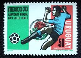 1970 URUGUAY Mnh Airmail Yv A372  - Soccer Football Mexico World Championship - Cup Jules Rimet Futbol Player  FIFA - Uruguay