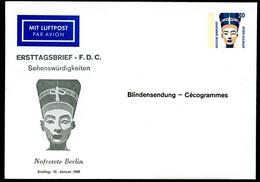 NOFRETETE Germany STO Envelope PU281 D1/001 1989 Cat. 5,00 € - Egiptología
