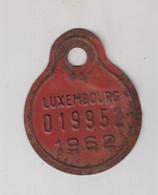 Plaque De VELO - Province De LUXEMBOURG - 1962 N° 019952 - Targhe Di Immatricolazione