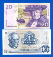 Norvège  2  Billets - Noorwegen