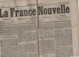 FRANCE NOUVELLE 12 8 1875 GRAND CONCOURS SORBONNE - BEZIERS - CAMBRAI - COLLEGE STANISLAS - PRINCESSE ORLOFF - DAUMESNIL - 1850 - 1899