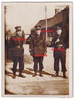 Orginal Photo RIJKSWACHT Officieren Overjas !! Gendarmerie Politie Police - 1939-45