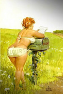 Postcard 4x6 Inc ( 10 X 15 Cm ) CHUBBY HILDA Erotic Sexy Extremely Stunning Glamour Beauty Girl H-0021 - Pin-Ups