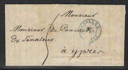 Voorloper Verstuurd Uit Bruxelles Naar Ypres 20 Sept 1844 - 1830-1849 (Onafhankelijk België)
