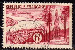 FRANCE FRANCIA 1955 BORDEAUX  REGION BORDELAISE FR 6f USATO USED OBLITERE' - Usati
