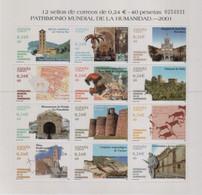"Idee Europee - 2001 Spagna ""Patrimoni Mondiali Dell'Umanità"" In Minifoglio (MF) MNH** - Europäischer Gedanke"