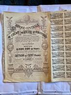 BANQUE  CENTRALE  De  CRÉDIT  MOBILIER  Et  INDUSTRIEL ------  Action  De  100 Frs - Bank & Versicherung