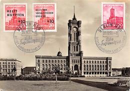 1956.- DDR HELFT AGYPTEN UND HELFT UNGARN. POSTKARTEN DATUM FUR ERISTAG 20/12/56 - Cartas