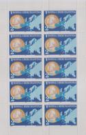 """Idee Europee - 2002 Bosnia Erzegovina """"Introduzione Dell'Euro"""" In Minifoglio + 1v (MF) MNH** - Europäischer Gedanke"""