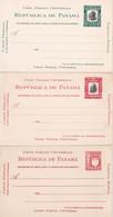 PANAMA ENTIER POSTAL/GANZSACHE/POSTAL STATIONARY  LOT DE 3 CARTES - Panama