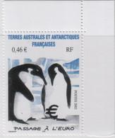 """Idee Europee - 2002 Antartico Francese """"Introduzione Dell'Euro"""" 1v MNH** - Europäischer Gedanke"""