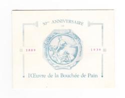 """Carte D'invitation Pour Le 50me Anniversaire De """" L'Oeuvre De La Bouchée De Pain """" - VERVIERS 1939 - Non Classificati"""
