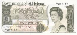 BILLETE DE LA ISLA SANTA HELENA DE 1 POUND DEL AÑO 1976  P-09a  NUEVO, SIN CIRCULAR  (BANKNOTE) - Saint Helena Island