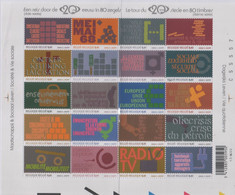 "Idee Europee - 2002 Belgio ""Le Conquiste Sociali Del XX Secolo"" In Foglietto (BF) MNH** - Europäischer Gedanke"