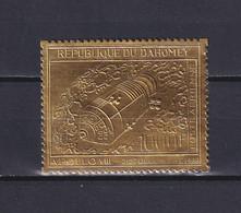 DAHOMEY 1969, Mi# 386, CV €25, Golden Foil, Space, MNH - Benin – Dahomey (1960-...)