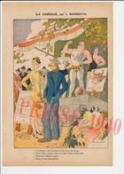 Dessin Presse 1940 Humour L. Bonnotte Métier Mécanicien Train Le Costaud Homme Fort Comme Un Boeuf Foire Lutte 249/11 - Sin Clasificación