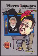 CPM Timbre Monnaie Tirage Limité 30 Ex Numérotés Et Signés Par JIHEL Autoportrait écrivain - Stamps (pictures)