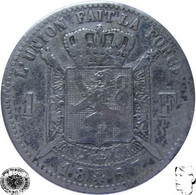 LaZooRo: Belgium 1 Franc 1867 VF - Silver - 07. 1 Franc