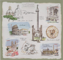 "Idee Europee - 2002 Francia ""Le Capitali Europee - Roma"" In Foglietto (BF) MNH** - Europäischer Gedanke"