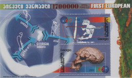 "Idee Europee - 2002 Georgia ""I Primi Europei"" In Foglietto (BF) MNH** - Europäischer Gedanke"