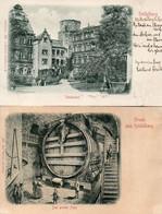 DC4339 - Ak Heidelberg 2 Karten Prägekarte - Heidelberg