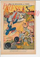 Dessin Presse 1940 Humour Dessin Thomen Cirque Clown Chien à Deux Tête Bicéphale Haltères Femme à Barbe 249/11 - Non Classificati