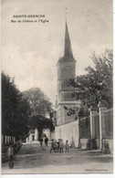 Sainte-Hermine- Rue Du Château Et L'Eglise - Sainte Hermine