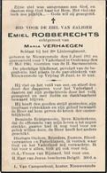 WO II - Emiel ROBBERECHTS - Gesneuveld Oostcamp 1940 - Esquela