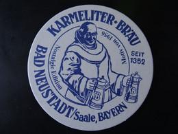 Bierdeckel - Karmeliter Brauerei Bräu, Unterfranken, Bayern, Germany - Sous-bocks