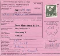 SUÈDE. INTERNATIONELL POSTANVISNING, MANDAT DE POSTE INTERNATIONAL. ANNEE 1967, SOLNA A HAMBURG. - LILHU - Unclassified