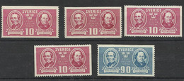 SUEDE 1942 N° Y&T 292 293 NEUF SANS CHARNIERE MNH FACIT 340A1 A2 A3 A4 Et 341 SWEDEN - Unused Stamps