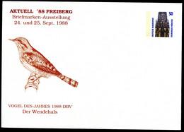 Bund PU285 D2/002 WENDEHALS VOGEL DES JAHRES Freiberg 1988 - Sobres Privados - Nuevos